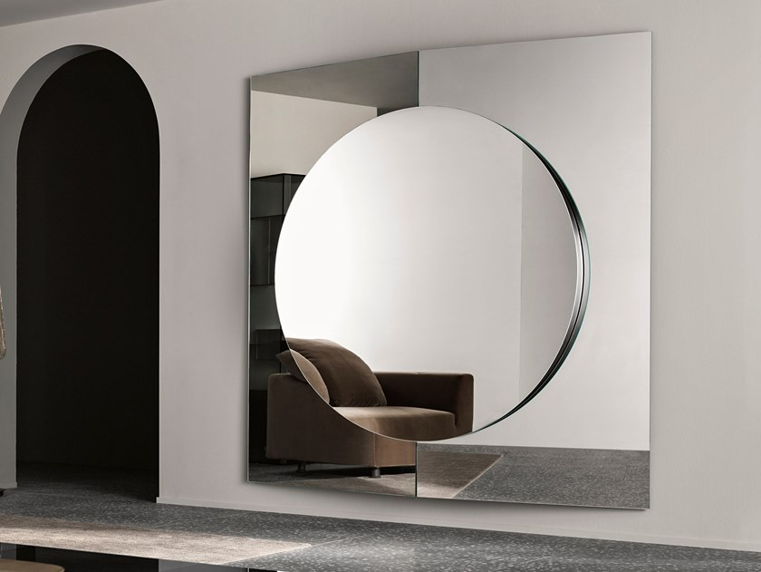 Square wall-mounted mirror CENTRAL by Tonelli Design