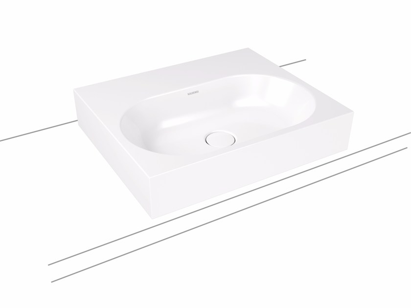 Countertop rectangular enamelled steel washbasin CENTRO | Countertop washbasin by Kaldewei Italia