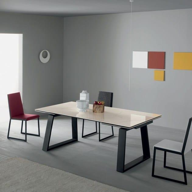 Tavoli Allungabili In Alluminio.Tavolo Allungabile Da Pranzo Rettangolare In Alluminio In Stile
