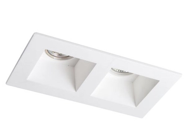 Square recessed plaster spotlight CERAMIC 5 by Terzo Light