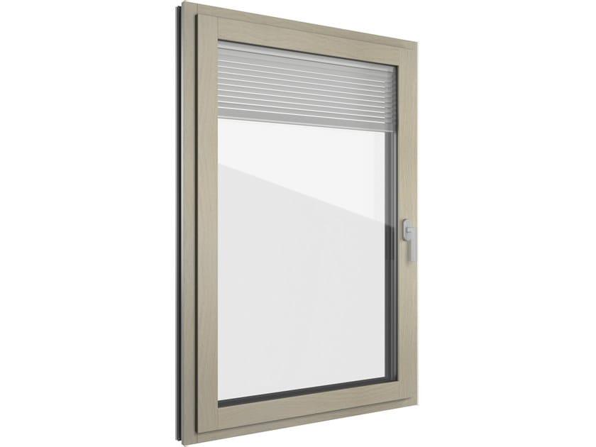 Finestra in alluminio e legno con veneziana integrata FIN-PROJECT CLASSIC-LINE TWIN | Finestra in alluminio e legno by FINSTRAL