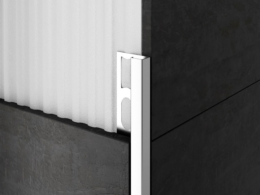 Stainless steel edge profile for walls CERFIX® PROANGLE Q ZQIND/ S-DESIGN by PROFILPAS