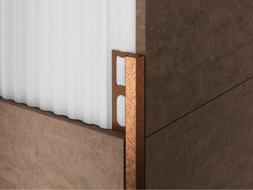 Bordo in alluminio per rivestimenti PROANGLE Q ZQAND X-DESIGN by PROFILPAS