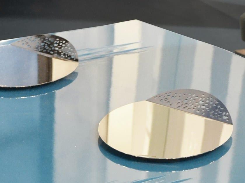 Round metal tray CERTOSA E FENG by Adriani e Rossi edizioni