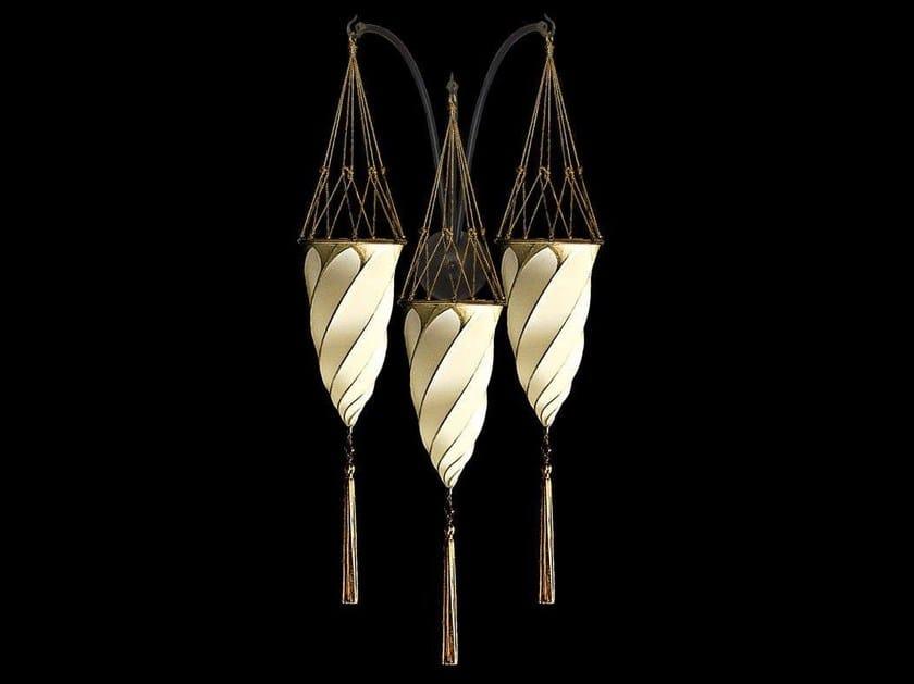 Silk wall lamp CESENDELLO TRIPLE ARC WALL | Silk wall lamp by Fortuny