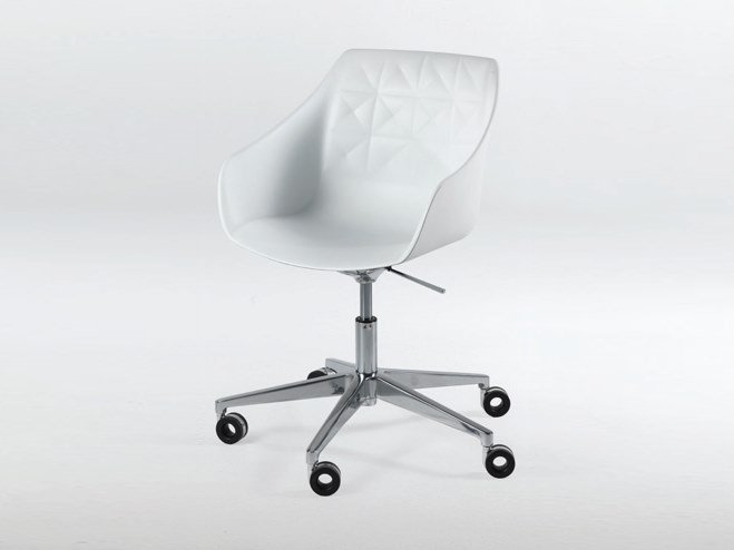 Swivel Height Adjule Polyurethane Chair With Casters Cester Desk By Casprini