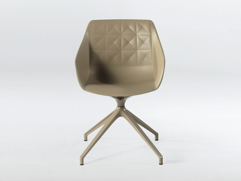 Trestle-based polyurethane chair with armrests CESTER + SPIDER by Casprini