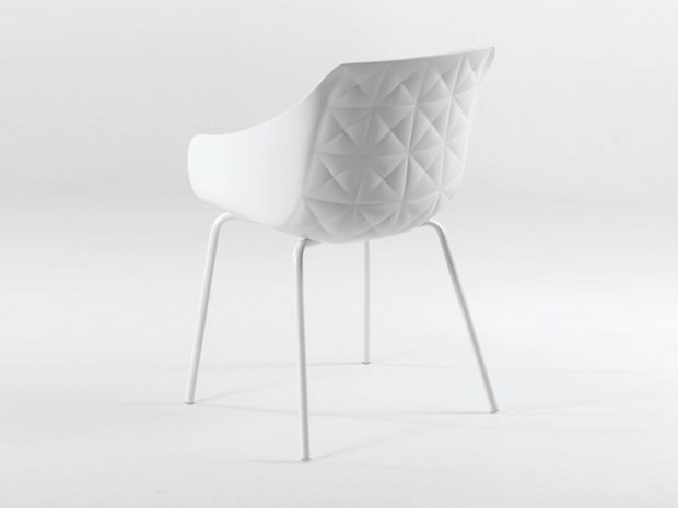 Polyurethane chair with armrests CESTER + TUBE by Casprini