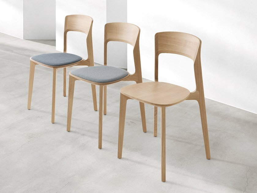 Solid wood chair with integrated cushion CETONIA - TI | Chair with integrated cushion by Passoni
