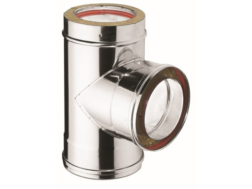 Insulated Double Wall Flue 90° Tee Piece CH-TA CE® by ATRITUBE