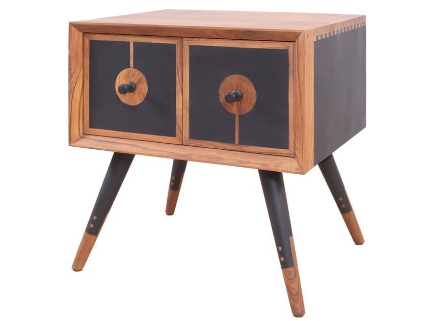 Rectangular wooden bedside table CHAAR CHAURAS MINI | Rectangular bedside table by ALANKARAM