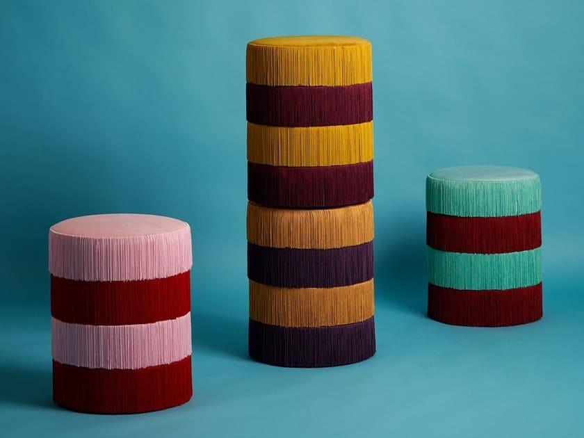 Round pouf CHACHACHÀ | Pouf by Houtique
