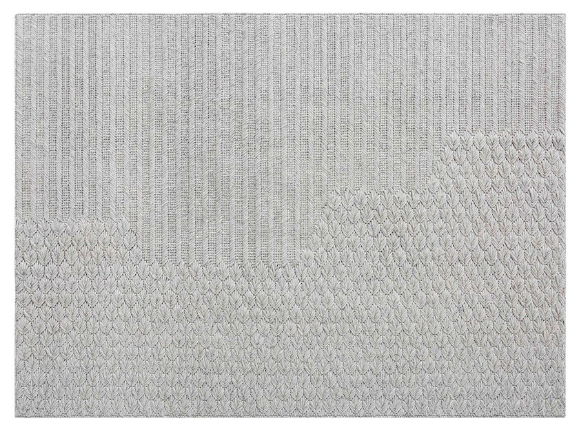 Contemporary style solid-color rectangular wool rug CHADDAR by GAN