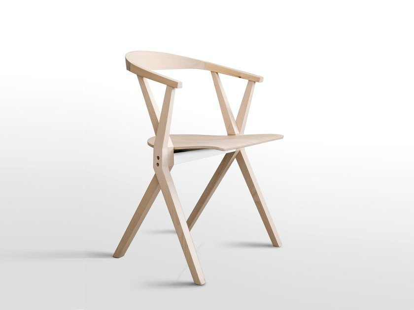 wooden chair. Folding Wooden Chair With Armrests CHAIR B | By BD Barcelona Design R