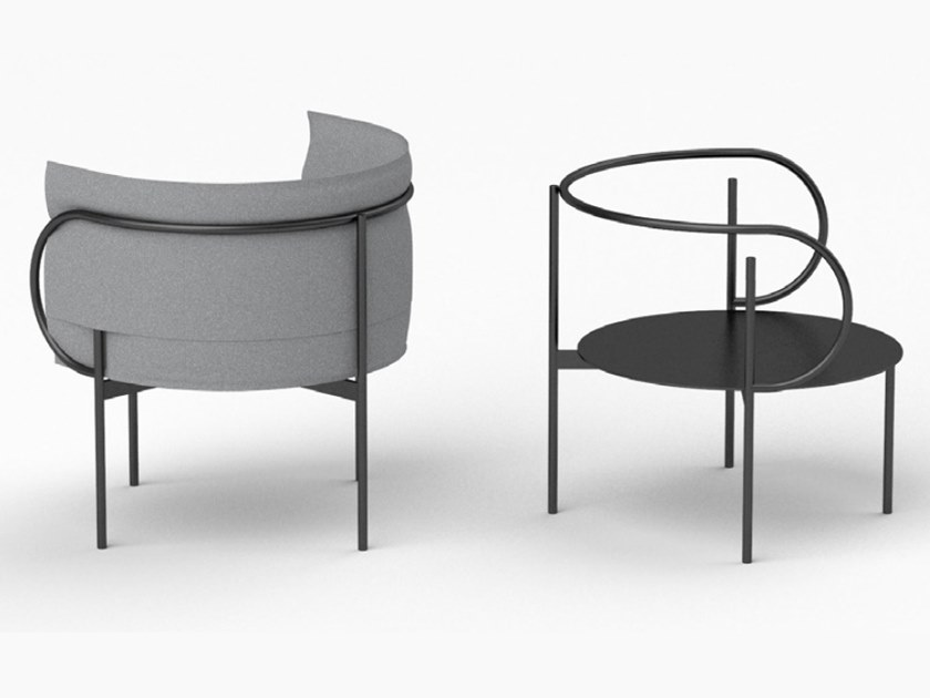 Fabric easy chair with armrests CHAIR L by ZENS Lifestyle