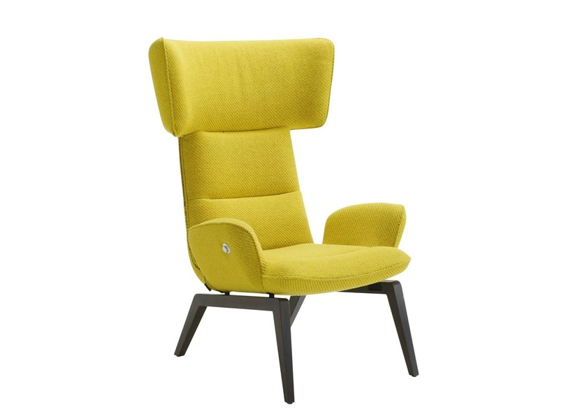Wingchair with armrests @-CHAIR by Ligne Roset