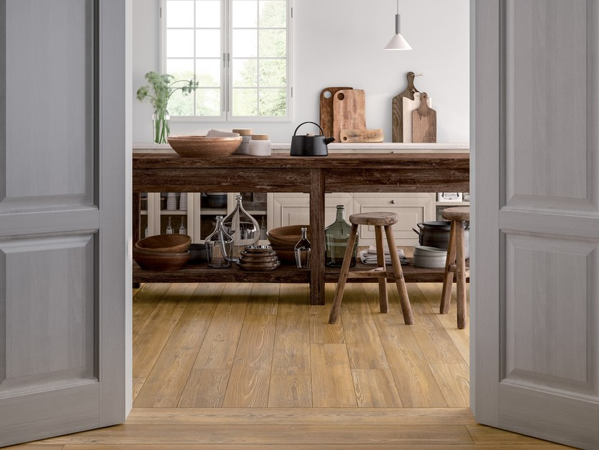Porcelain stoneware wall/floor tiles with wood effect CHALET HONEY by CERAMICA FONDOVALLE