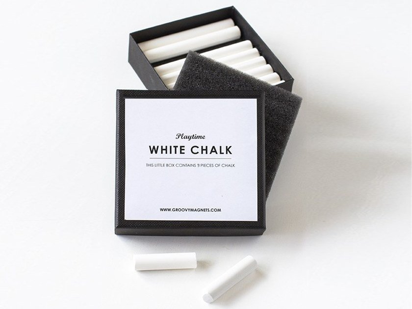 Chalk CHALK - WHITE by Groovy Magnets