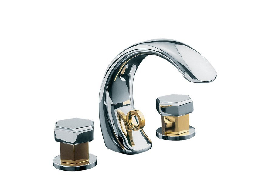 3 hole countertop washbasin mixer CHAMBORD | 3 hole washbasin mixer by rvb