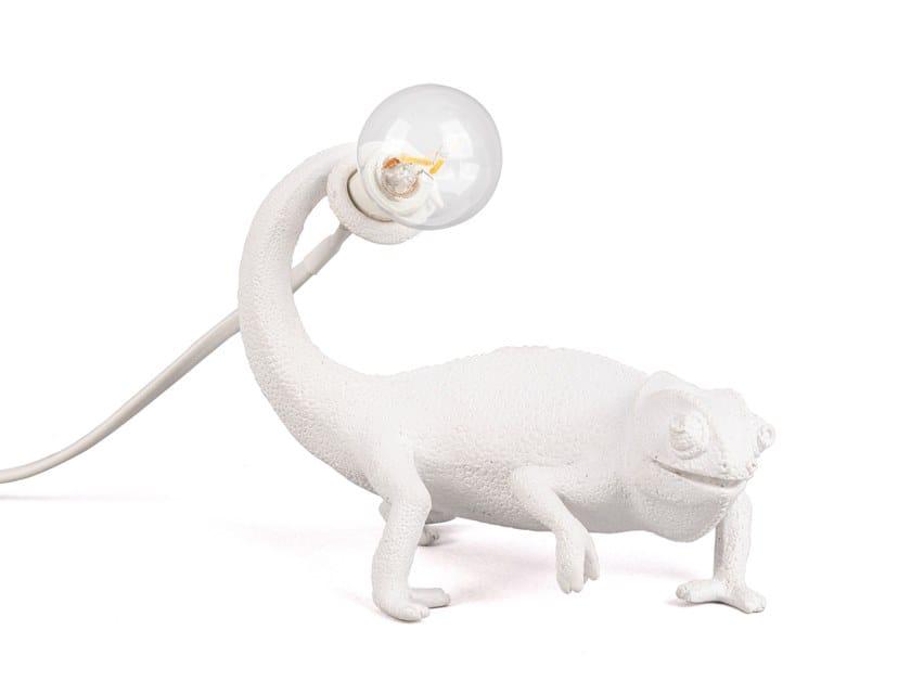 Lámpara de mesa LED de resina CHAMELEON STILL by Seletti