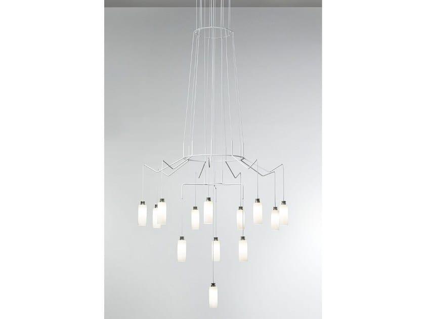 LED steel pendant lamp CHAN LED by Prandina