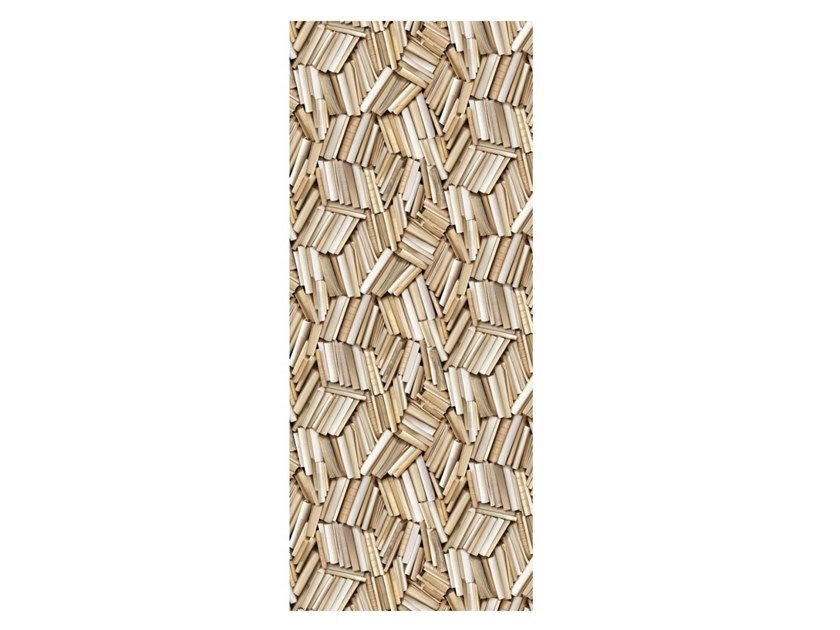 Polyester Tapestry CHAOTIC IVORY BOOKSHELVES by Koziel