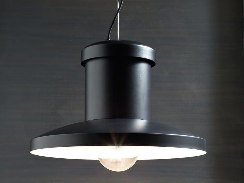 LED direct light iron pendant lamp CHAPEAU by ZAVA