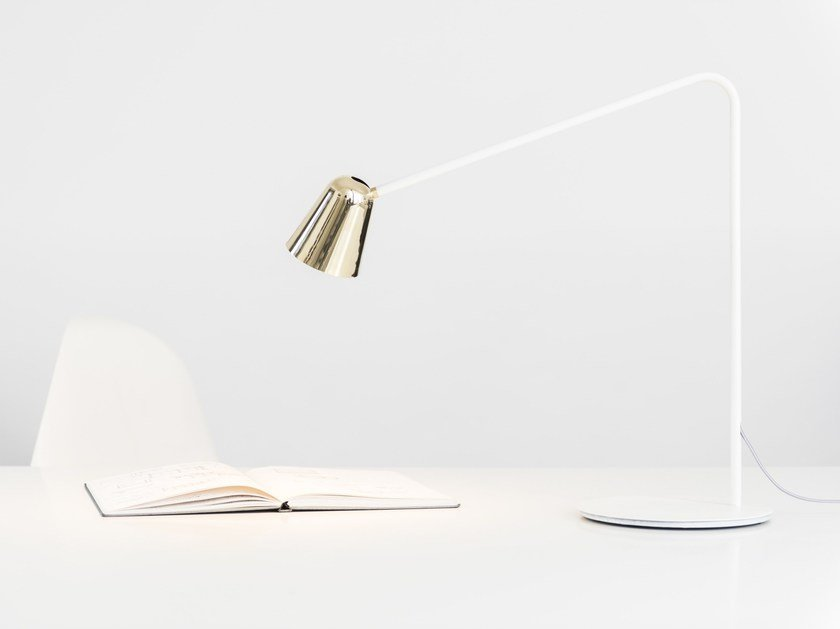 LED adjustable metal desk lamp CHAPLIN | Metal desk lamp by Formagenda