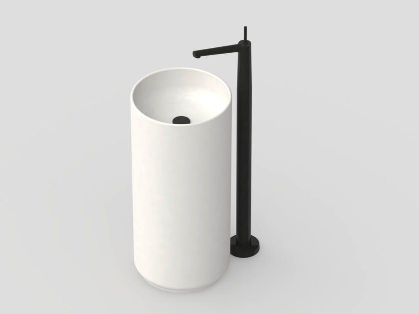 Floor standing single handle washbasin mixer CHAPTER | Floor standing washbasin mixer by JUSTIME