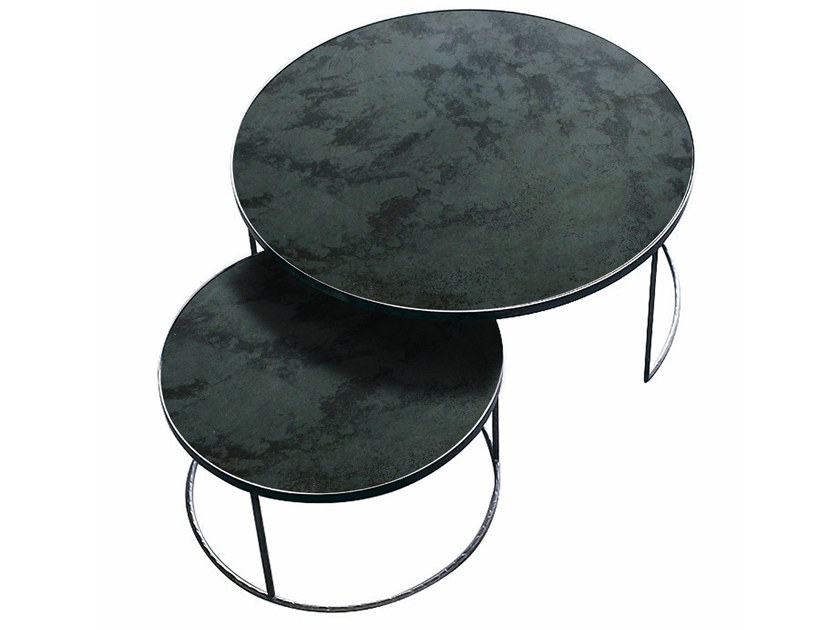 Nesting Set Tavolino Table Notre Coffee Rotondo Monde Charcoal EWD9IH2