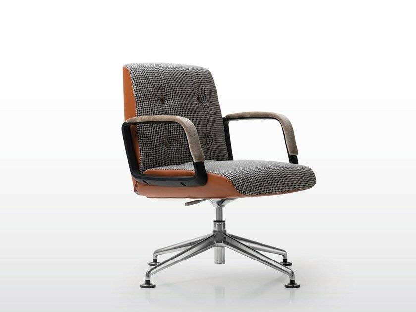 Fabric executive chair with 4-spoke base CHARLES | Executive chair with 4-spoke base by Quinti Sedute