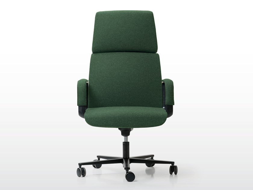 Fabric executive chair with 5-spoke base with castors CHARLES | Executive chair with 5-spoke base by Quinti Sedute