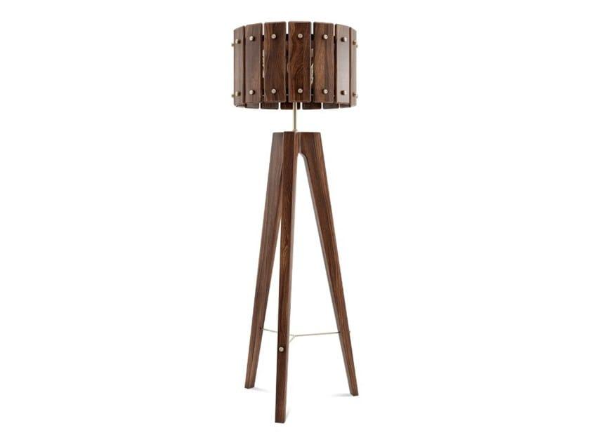 Lampada da terra in legno CHARLES by Wood Tailors Club