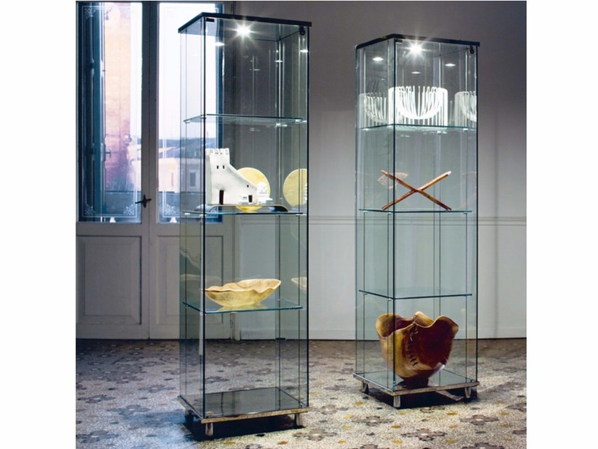 Crystal display cabinet with integrated lighting CHARME by Cattelan Italia