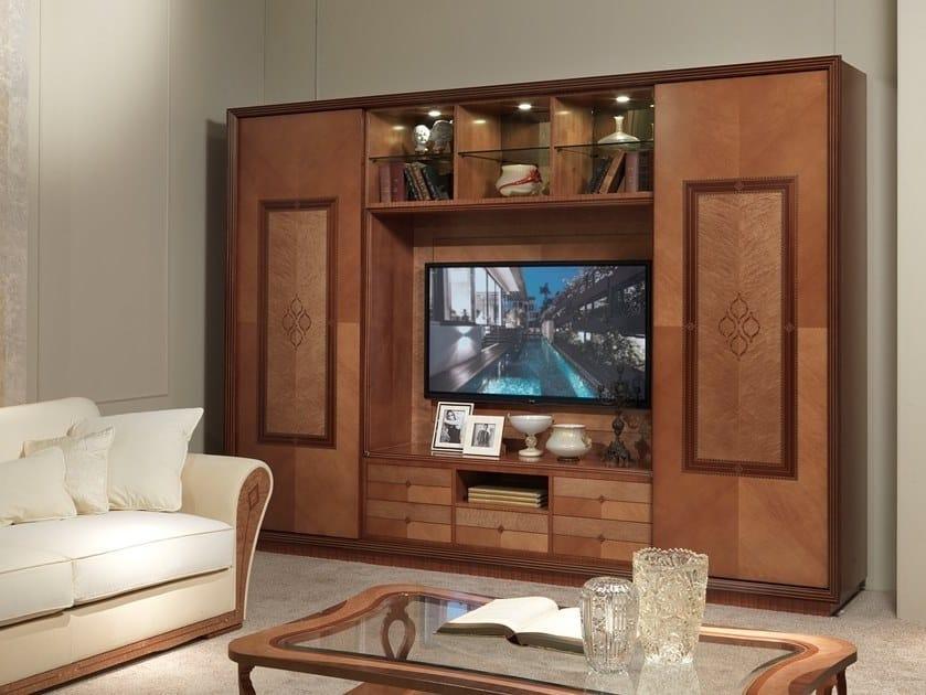 Parete attrezzata in legno con porta tv CHARME | Parete attrezzata by Carpanelli Classic