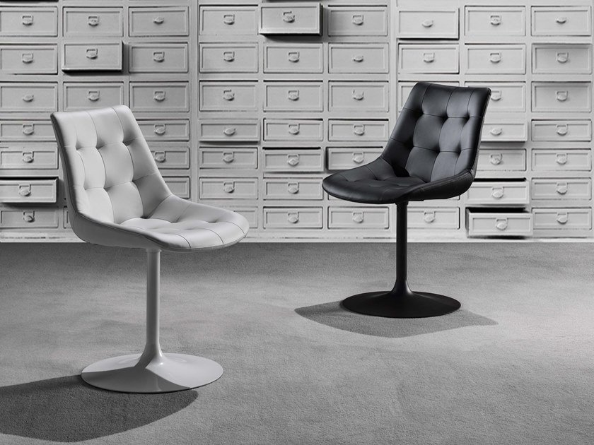 Swivel Eco-leather chair CHARME by La seggiola