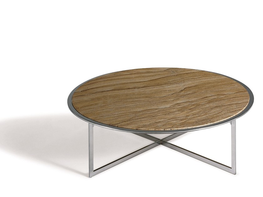 Round stone coffee table CHARME | Low coffee table by Draenert
