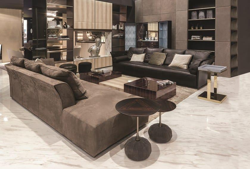 Divano in pelle a posti charme divano longhi