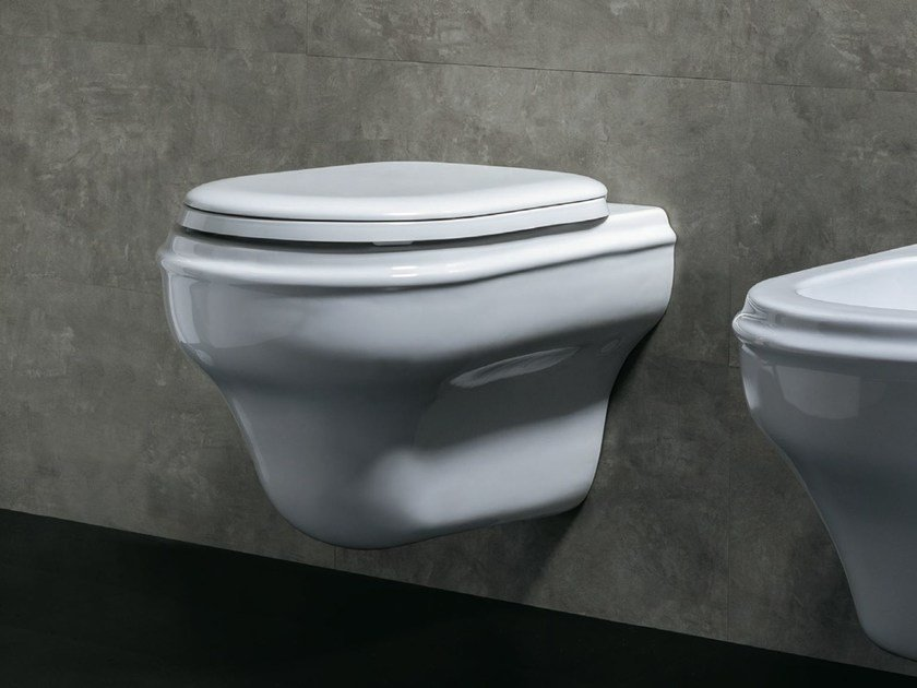 Wall-hung ceramic toilet CHARME | Wall-hung toilet by AZZURRA sanitari