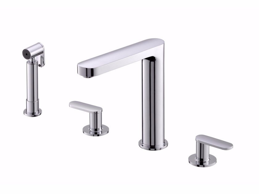 Countertop kitchen tap with pull out spray CHARMING | Kitchen tap by JUSTIME