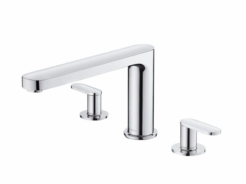 3 hole chromed brass bathtub tap CHARMING PLUS   3 hole bathtub tap by JUSTIME