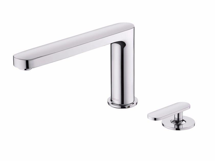 2 hole single handle chromed brass bathtub mixer CHARMING PLUS | 2 hole bathtub mixer by JUSTIME