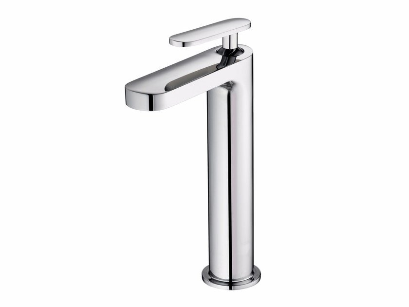 Countertop single handle chromed brass washbasin mixer CHARMING PLUS | Single handle washbasin mixer by JUSTIME
