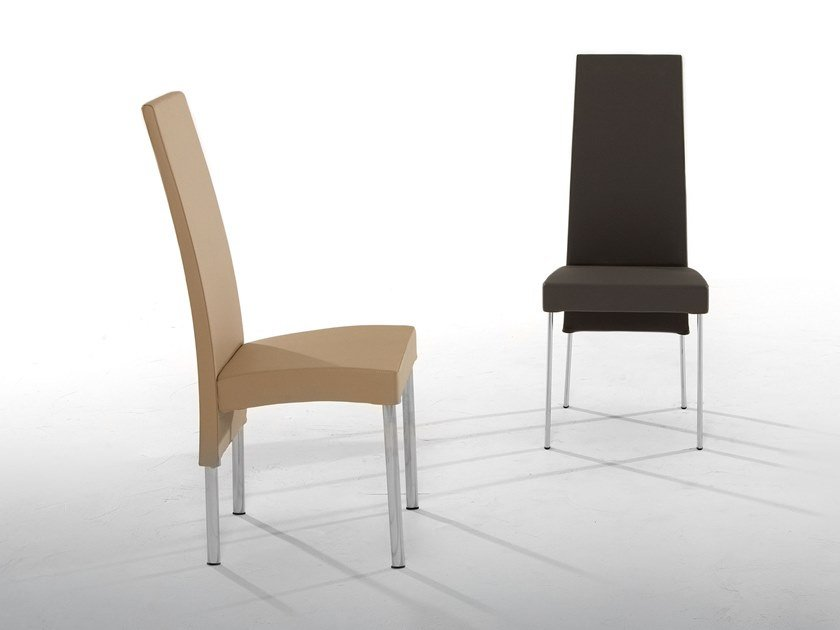 Upholstered leather chair CHARONNE by Tonin Casa