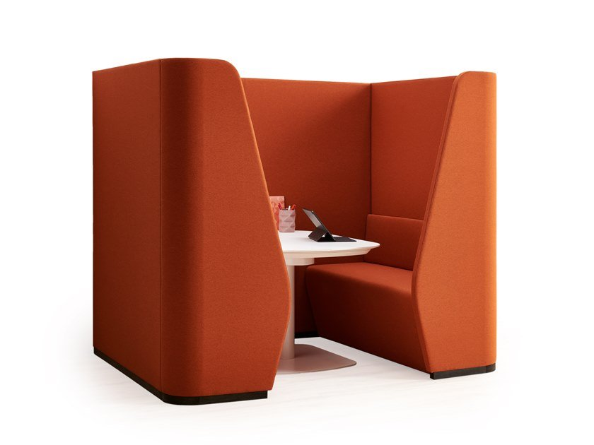 Acoustic fabric meeting pod CHAT SOFA by ESTEL GROUP