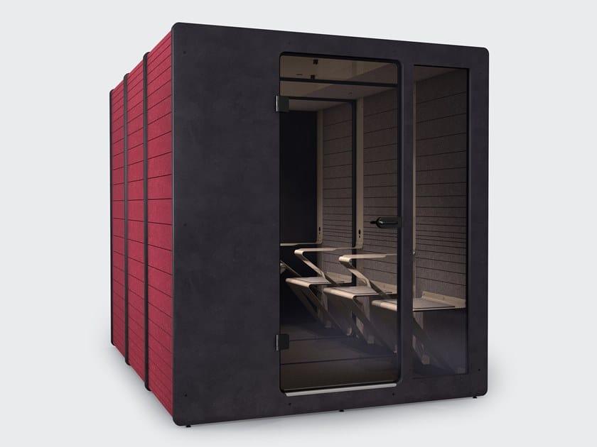 Cabine de escritório acústica de plástico reciclado com luzes integradas para reuniões CHATPOD 1050 by IMPACT ACOUSTIC®