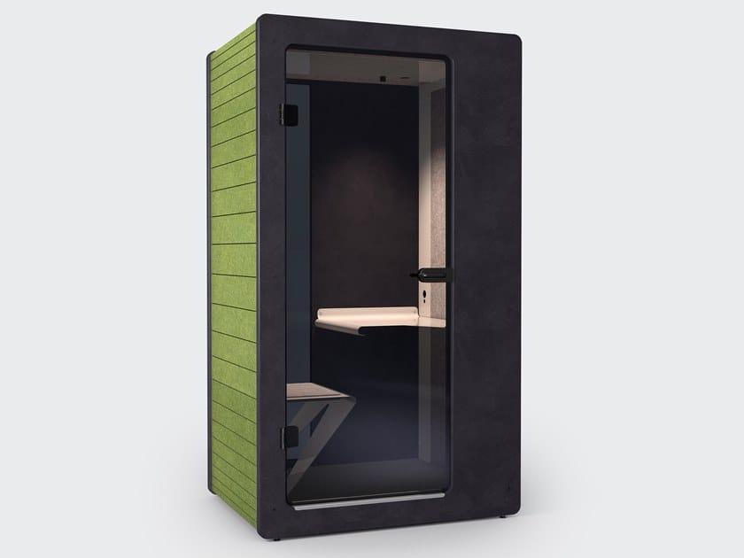 Cabine de escritório acústica de PET com luzes integradas CHATPOD 240 by IMPACT ACOUSTIC®