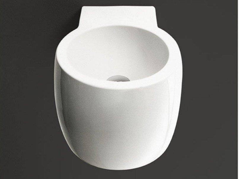Round ceramic washbasin CHEESE   Washbasin by Agape