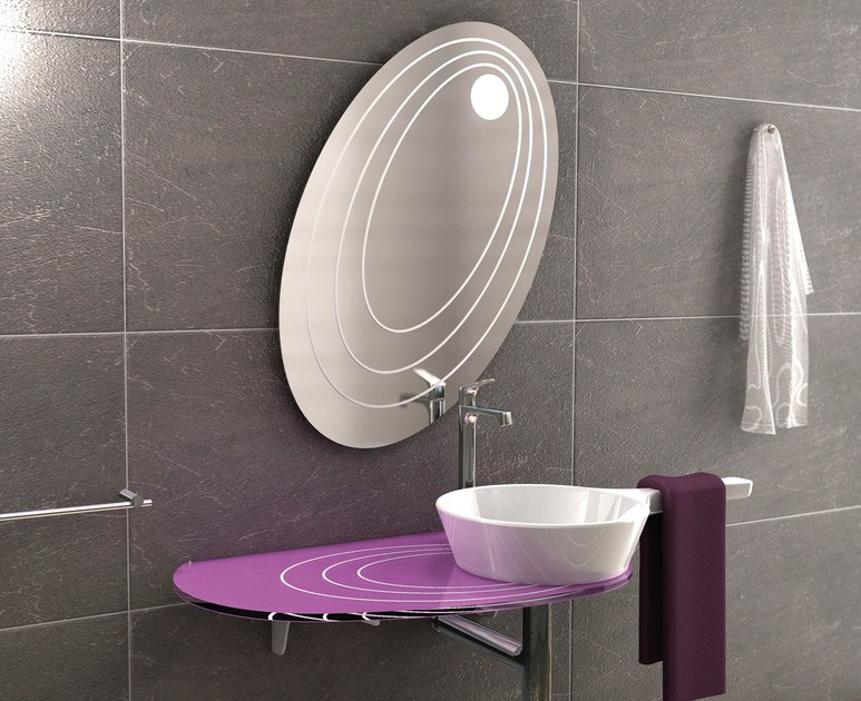 Round washbasin with towel rail CHEF SET ONE | Washbasin by LINEAG