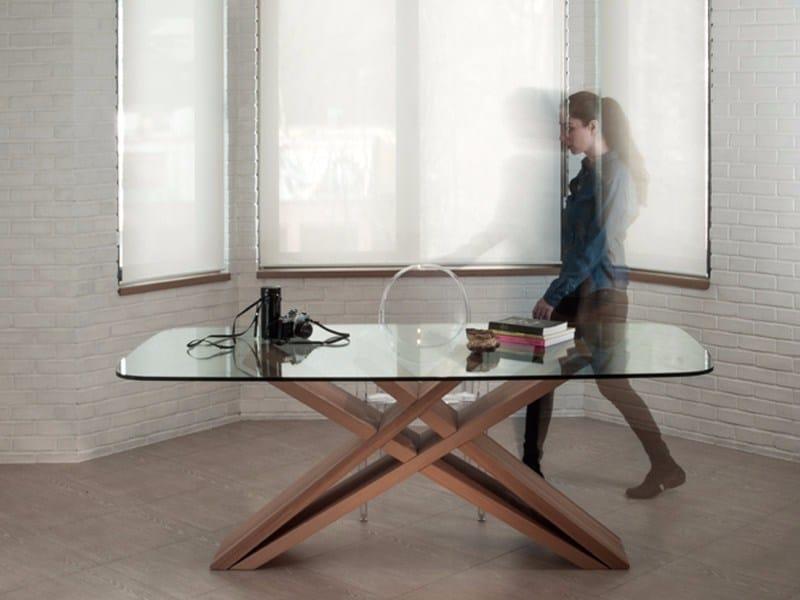 Rectangular beech living room table CHEFT | Table by Studio Pousti